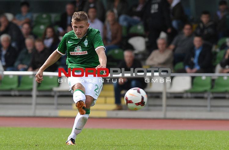 31.08.2013, Platz 11, Bremen, GER, RLN, Werder Bremen II vs VfB Oldenburg, im Bild Levent Aycicek (Bremen #28)<br /> <br /> Foto &copy; nph / Frisch