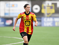 20191005  -  Diksmuide , BELGIUM : KV Mechelen's Laura Baetens  pictured during a footballgame between the womensoccer teams from Famkes Westhoek Diksmuide Merkem and KV Mechelen Ladies A , on the 5th matchday in the first division , 1e nationale , in Diksmuide - Belgium - saturday 5th october 2019 . PHOTO DAVID CATRY   Sportpix.be