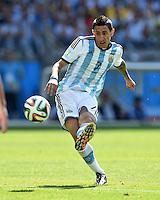 FUSSBALL WM 2014  VORRUNDE    GRUPPE F     Argentinien - Iran                         21.06.2014 Angel di Maria (Argentinien) am Ball