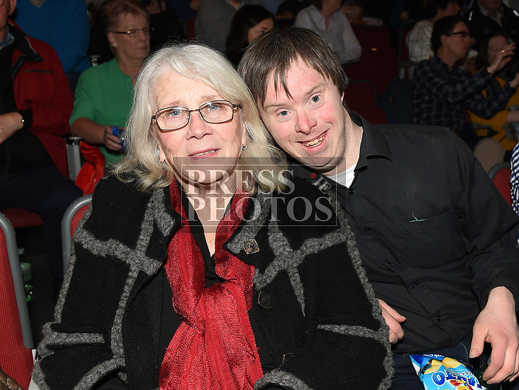 Brendan and Kay O'Shea at the Bagatelle 40th anniversary show in The TLT. Photo:Colin Bell/pressphotos.ie