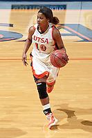 SAN ANTONIO, TX - NOVEMBER 26, 2011: The University of Detroit Mercy Titans vs. The University of Texas at San Antonio Roadrunners Women's Basketball at the UTSA Convocation Center. (Photo by Jeff Huehn)