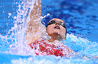 PICTURE BY VAUGHN RIDLEY/SWPIX.COM - Swimming - British Swimming Championships 2012 (Olympic Selection Trials) - Aquatics Centre, Olympic Park, London, England - 08/03/12 - Georgia Davies competes in the Women's 200m Backstroke Heats.