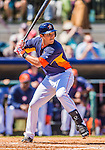 7 March 2013: Houston Astros infielder Brandon Laird in action during a Spring Training game against the Washington Nationals at Osceola County Stadium in Kissimmee, Florida. The Astros defeated the Nationals 4-2 in Grapefruit League play. Mandatory Credit: Ed Wolfstein Photo *** RAW (NEF) Image File Available ***