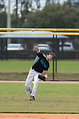 Aiden Olenjack (8) of Willow Park, Texas during the Baseball Factory All-America Pre-Season Rookie Tournament, powered by Under Armour, on January 13, 2018 at Lake Myrtle Sports Complex in Auburndale, Florida.  (Michael Johnson/Four Seam Images)