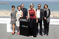 "Director Jasmila Zbanic (L) and actress Kym Vercoe (2L) posse in the photocall of the ""For those who can tell no lies"" film presentation during the 61 San Sebastian Film Festival, in San Sebastian, Spain. September 26, 2013. (ALTERPHOTOS/Victor Blanco) <br /> San Sebastian Film Festival <br /> Foto Insidefoto"
