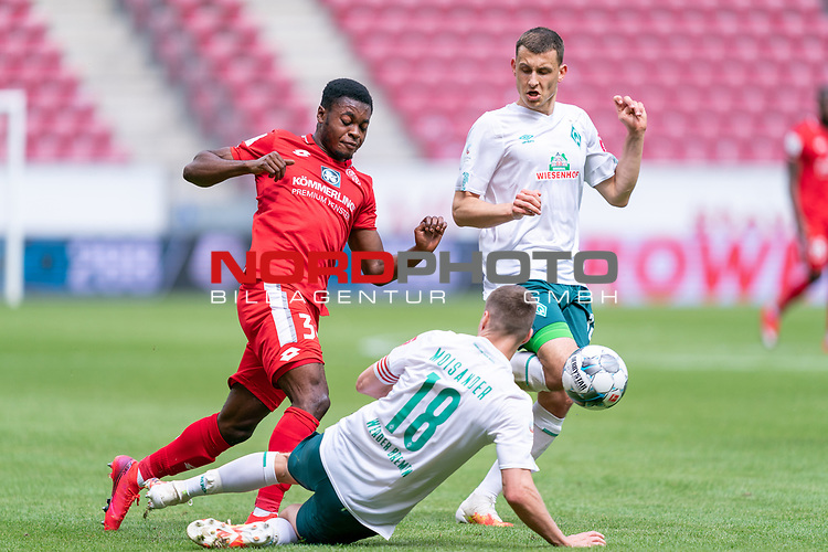 Sport: nphgm001: Fussball: 1. Bundesliga: Saison 19/20: 33. Spieltag: 1. FSV Mainz 05 vs SV Werder Bremen 20.06.2020<br /> <br /> Foto: gumzmedia/nordphoto/POOL <br /> <br /> DFL regulations prohibit any use of photographs as image sequences and/or quasi-video.<br /> EDITORIAL USE ONLY<br /> National and international News-Agencies OUT.