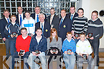 Awards Night - Award winners and officials at the North County Board Meeting held in The Ballyroe Heights Hotel on Friday night. Seated l/r Daniel Collins, Toma?s Casey, Patrice Diggin, Brandon Barrett and Emet Meehan, standing l/r Paudi Dineen, Gearoid Sheehan, Tommy O'Connor, John Hussy, Joe Walsh, Tom Lawlor, Overall Merit Winner Daithi O'Regan, Pat Dineen, Kieran O'Connor, Colin O'Mahoney and Brendan O'Leary, missing from the photo are Liam Power and James O'Connor......................................................................... ............   Copyright Kerry's Eye 2008