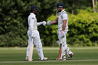 Z Shahzad and H Chowdhury of Wanstead during Brentwood CC vs Wanstead and Snaresbrook CC, Shepherd Neame Essex League Cricket at The Old County Ground on 11th May 2019
