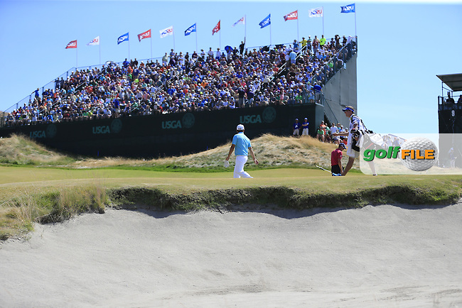 Alexander Levy (FRA) walks up to the 9th green during Saturday's Round 3 of the 2015 U.S. Open 115th National Championship held at Chambers Bay, Seattle, Washington, USA. 6/20/2015.<br /> Picture: Golffile | Eoin Clarke<br /> <br /> <br /> <br /> <br /> All photo usage must carry mandatory copyright credit (&copy; Golffile | Eoin Clarke)
