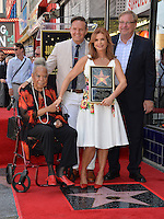 LOS ANGELES, CA. August 11, 2016: Della Reese &amp; Mark Burnett &amp; Roma Downey &amp; Rick Warren at Hollywood Walk of Fame Star ceremony for actress Roma Downey. <br /> Picture: Paul Smith / Featureflash