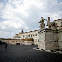Fontana dei dioscuri sulla piazza del Quirinale<br /> The Dioscuri fountain on the Quirinale square