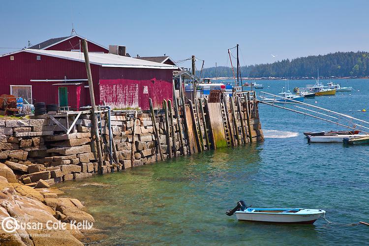The fishing village of Stonington, ME, USA