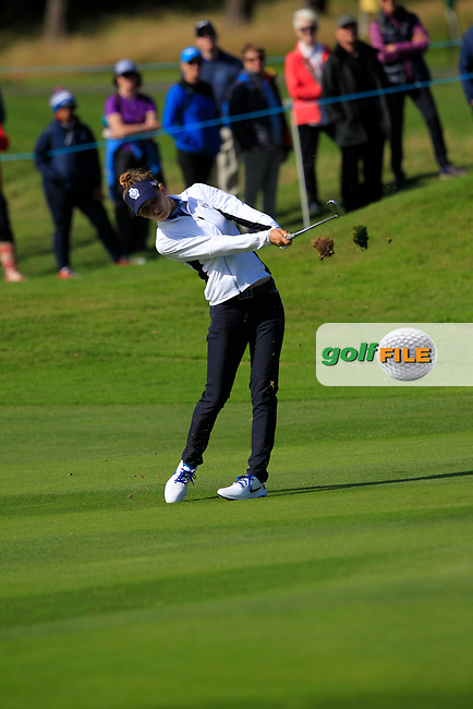 Anne Van Dam Team Europe on the 7th fairway during Day 1 Fourball at the Solheim Cup 2019, Gleneagles Golf CLub, Auchterarder, Perthshire, Scotland. 13/09/2019.<br /> Picture Thos Caffrey / Golffile.ie<br /> <br /> All photo usage must carry mandatory copyright credit (© Golffile | Thos Caffrey)