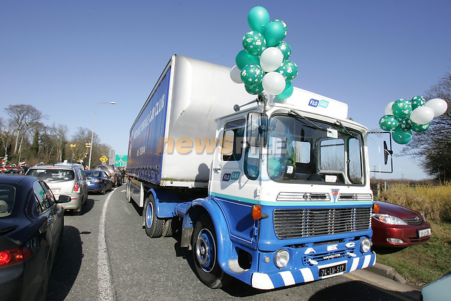 a refurbished Flo Gas AEG truck getting ready or the St Patrick's Day parade in Ardee...Photo: Newsfile/Fran Caffrey.