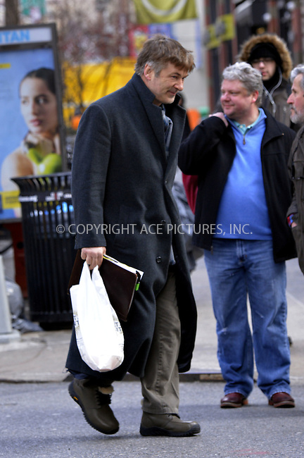 WWW.ACEPIXS.COM......February 22 2013, New York City....A dishevelled looking Alec Baldwin wanders aroun his East Village neighborhood on February 22 2013 in New York City......By Line: Curtis Means/ACE Pictures......ACE Pictures, Inc...tel: 646 769 0430..Email: info@acepixs.com..www.acepixs.com