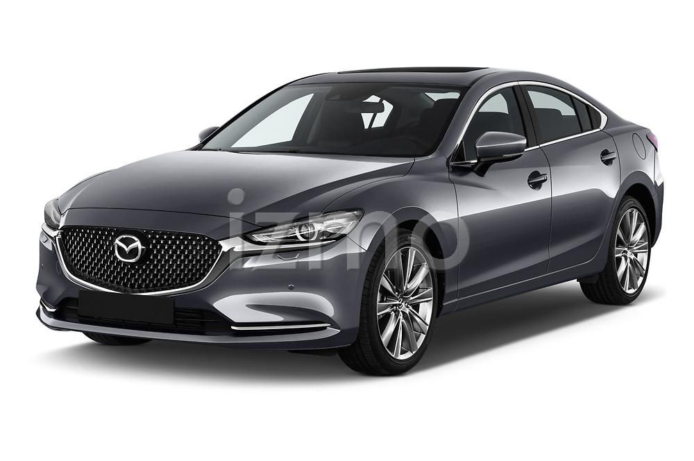 2018 Mazda Mazda6 Skycruise 4 Door Sedan angular front stock photos of front three quarter view