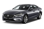 2018 Mazda Mazda6 Skycruise 4 Door Sedan angular front stock photos of front three quarter view