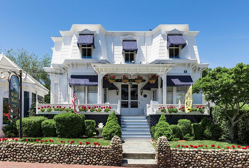 White Wind Inn on Commercial Street, Provincetown, Cape Cod, Massachusetts, USA.