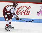 Jillian Dempsey (Harvard - 14) - The Boston College Eagles defeated the Harvard University Crimson 2-1 in the 2013 Beanpot opening round on Tuesday, February 5, 2013, at Matthews Arena in Boston, Massachusetts.