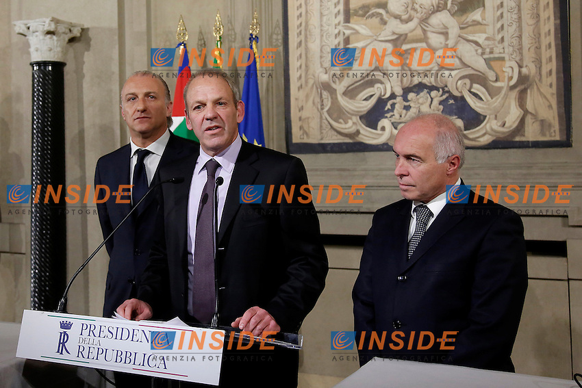 Vittorio Fravezzi, Karl Zeller e Franco Panizza<br /> Roma 09-12-2016. Quirinale. Consultazioni <br /> Rome December 9th 2016. Quirinale. Consultation with the President of the Republic for a new Government<br /> Foto Samantha Zucchi Insidefoto