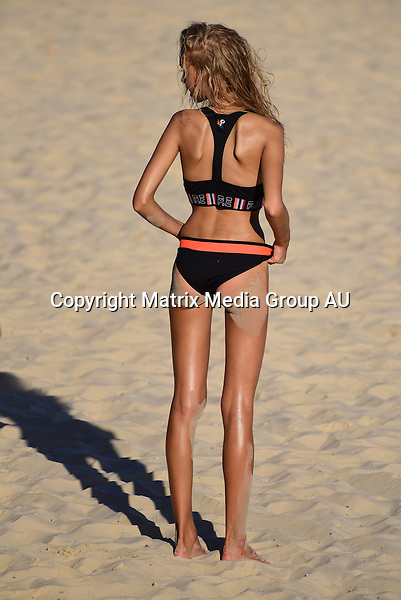 25 February, 2016 <br /> SYDNEY, AUSTRALIA<br /> <br /> EXCLUSIVE PICTURES<br /> Bondi Beach model shoot .<br /> <br /> *ALL WEB USE MUST BE CLEARED*<br /> <br /> Please contact prior to use:  <br /> <br /> +61 2 9211-1088 or email images@matrixmediagroup.com.au <br /> <br /> Note: All editorial images subject to the following: For editorial use only. Additional clearance required for commercial, wireless, internet or promotional use.Images may not be altered or modified. Matrix Media Group makes no representations or warranties regarding names, trademarks or logos appearing in the images.