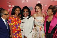 www.acepixs.com<br /> April 18, 2017  New York City<br /> <br /> George C. Wolfe, Renee Elise Goldsberry, Oprah Winfrey, Rose Byrne and Leslie Uggams attending 'The Immortal Life of Henrietta Lacks' premiere at SVA Theater on April 18, 2017 in New York City.<br /> <br /> Credit: Kristin Callahan/ACE Pictures<br /> <br /> <br /> Tel: 646 769 0430<br /> Email: info@acepixs.com