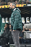 07.11.2019, Borussia-Park - Stadion, Moenchengladbach, GER, EL, Borussia Moenchengladbach vs. AS Roma, UEFA regulations prohibit any use of photographs as image sequences and/or quasi-video<br /> <br /> im Bild Marco Rose (Borussia Moenchengladbach) Mimik / starker Gesichtsausdruck / Emotion. <br /> <br /> Foto © nordphoto/Mauelshagen