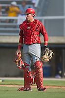 Catcher Jack Cawley (19) of the Johnson City Cardinals at Dan Daniels Park in Danville, VA, Sunday July 27, 2008.