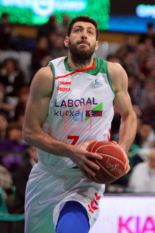League ACB-Endesa 2015-2016. Game: 16.<br /> FIATC Joventut vs Laboral Kutxa Baskonia: 68-89.<br /> Shengelia.