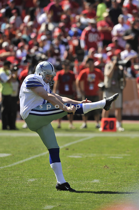 MATT MCBRIAR, of the Dallas Cowboys, in action during the Cowboy's game against the 49ers on September 18, 2011 at Candlestick Park in San Francisco, CA. The Cowboys beat the 49ers 27-24 in OT.