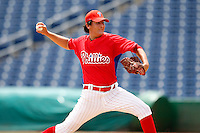 July 10, 2009:  Starting Pitcher Todd Van Steensel (83) of the GCL Phillies delivers a pitch during a game at Bright House Networks Field in Clearwater, FL.  The GCL Phillies are the Gulf Coast Rookie League affiliate of the Philadelphia Phillies.  Photo By Mike Janes/Four Seam Images