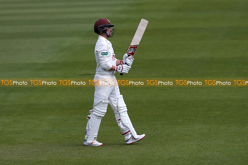 Rory Burns of Surrey leaves the field having been dismissed for 31 during Surrey CCC vs Essex CCC, Specsavers County Championship Division 1 Cricket at the Kia Oval on 11th April 2019