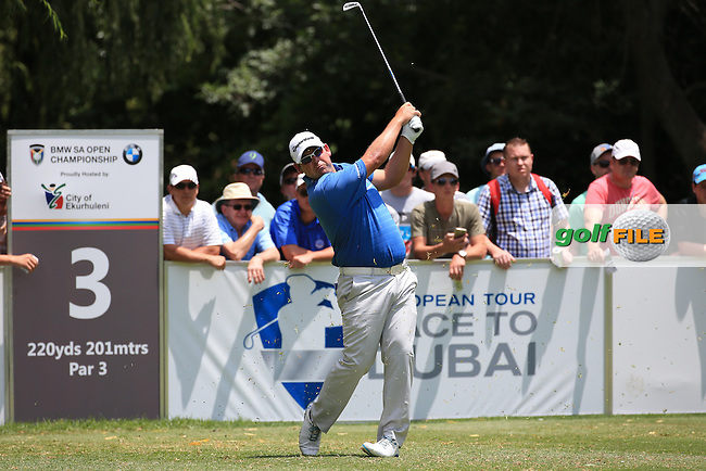 Justin Walters (RSA) in action during Round Three of the 2016 BMW SA Open hosted by City of Ekurhuleni, played at the Glendower Golf Club, Gauteng, Johannesburg, South Africa.  09/01/2016. Picture: Golffile | David Lloyd<br /> <br /> All photos usage must carry mandatory copyright credit (&copy; Golffile | David Lloyd)