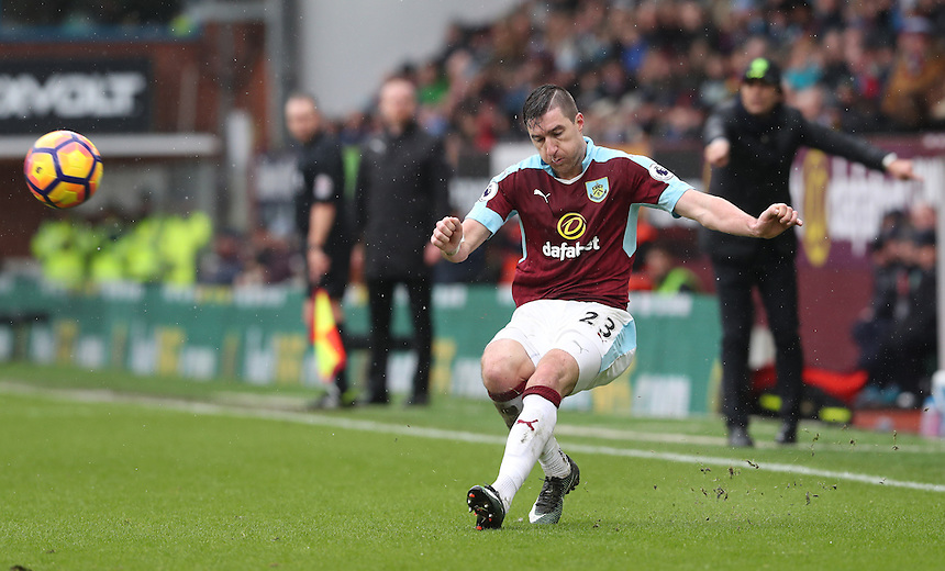 Burnley's Stephen Ward<br /> <br /> Photographer Rachel Holborn/CameraSport<br /> <br /> The Premier League - Burnley v Chelsea - Sunday February 12th 2017 - Turf Moor - Burnley<br /> <br /> World Copyright &copy; 2017 CameraSport. All rights reserved. 43 Linden Ave. Countesthorpe. Leicester. England. LE8 5PG - Tel: +44 (0) 116 277 4147 - admin@camerasport.com - www.camerasport.com