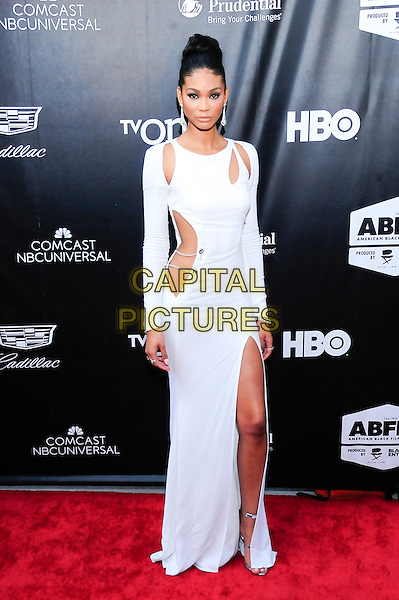 NEW YORK, NY - JUNE 11: Model Chanel Iman attends the 'Dope' world premiere to open the 2015 American Black Film Festival at SVA Theater on June 11, 2015 in New York City.   <br /> CAP/MPI/mpiRH<br /> &copy;mpiRH/MediaPunch/Capital Pictures