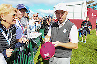 Cheeky face. Andy Sullivan (Team Europe) signs autograph during Thursday's Practice Round ahead of The 2016 Ryder Cup, at Hazeltine National Golf Club, Minnesota, USA.  29/09/2016. Picture: David Lloyd | Golffile.