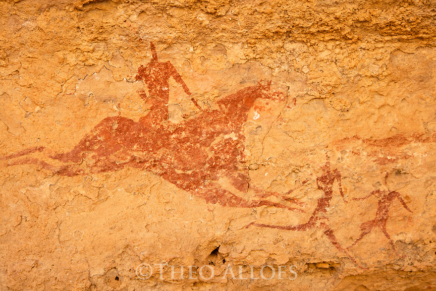 Chad (Tchad), North Africa, Sahara, Ennedi, rock paintings