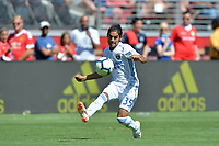 Santa Clara, CA - Sunday July 22, 2018: Gilbert Fuentes during a friendly match between the San Jose Earthquakes and Manchester United FC at Levi's Stadium.