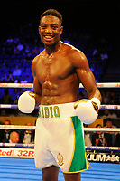 Umar Sadiq (white shorts) defeats Kamil Al Temini during a Boxing Show at the The O2 Arena on 23rd June 2018
