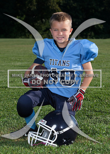 Oakfield-Elba Titans youth football and cheer photo day at Oakfield-Alabama Central School on September 3, 2014 in Oakfield, New York.  (Images Copyright Mike Janes Photography)