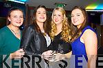 Anita Lombard (Cork) Siobhán Ahern (Abbeyfeale) Amy Moriarty (Fossa, Killarney) Joanne O'Mahony (Farranfore, Killarney) celebrating New Year's Eve  in the Killarney Plaza hotel on Tuesday night.