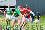 Kerry star Paul Geaney Dingle  breaks away from Milltown David Roche  during their County SFC round 1 game in Killorglin on Sunday