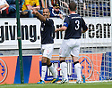 FALKIRK'S FARID EL ALLAGUI CELEBRATES SCORING THE FIRST