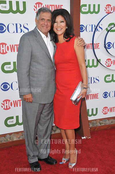 CBS boss Leslie Moonves & wife Julie Chen at the CBS Summer 2011 TCA Party at The Pagoda, Beverly Hills..August 3, 2011  Los Angeles, CA.Picture: Paul Smith / Featureflash