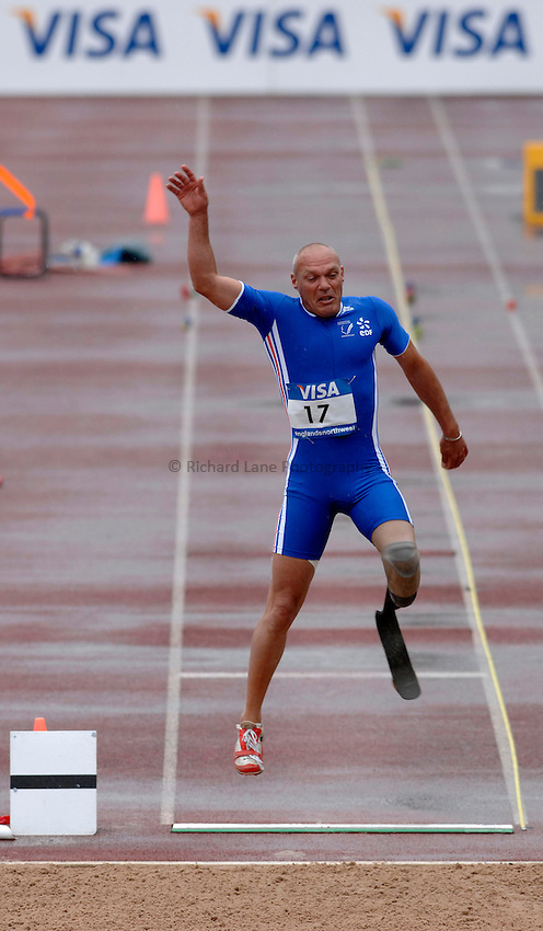Photo: Richard Lane..VISA Paralympic World Cup 2007. Athletics. 13/05/2007. .Xavier Le Draoullec of France in the men's F44 long jump.