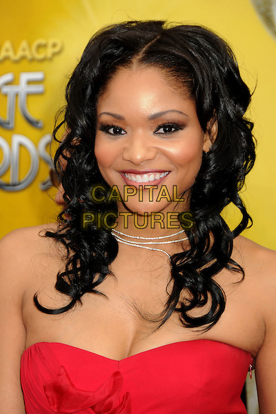 ERICA HUBBARD .41st Annual NAACP Image Awards - Arrivals held at The Shrine Auditorium, Los Angeles, California, USA..February 26th, 2010.headshot portrait red strapless .CAP/ADM/BP.©Byron Purvis/AdMedia/Capital Pictures.