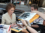 Mary Tyler Moore signing Autographs for fans as she.arrives for Broadway Barks Lucky 13th Annual Adopt-a-thon Presentation in New York City.