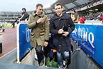 FC Barcelona's coach Luis Enrique Martinez with his second Juan Carlos Unzue during La Liga match. April 9,2016. (ALTERPHOTOS/Acero)