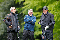 Kenny Dalglish shares a joke with Michael James during the Hero Pro-am at the Betfred British Masters, Hillside Golf Club, Lancashire, England. 08/05/2019.<br /> Picture David Kissman / Golffile.ie<br /> <br /> All photo usage must carry mandatory copyright credit (© Golffile | David Kissman)