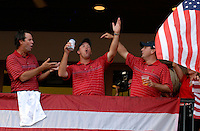 Captain Paul Azinger leads the celebrations with Boo Weekley and Ben Curtis at the clubhouse victory over Europe after the Singles on the Final Day of the Ryder Cup at Valhalla Golf Club, Louisville, Kentucky, USA, 21st September 2008 (Photo by Eoin Clarke/GOLFFILE)
